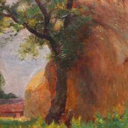 American Impressionist Haystacks, France