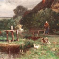 Nellie Brown In the Farmyard