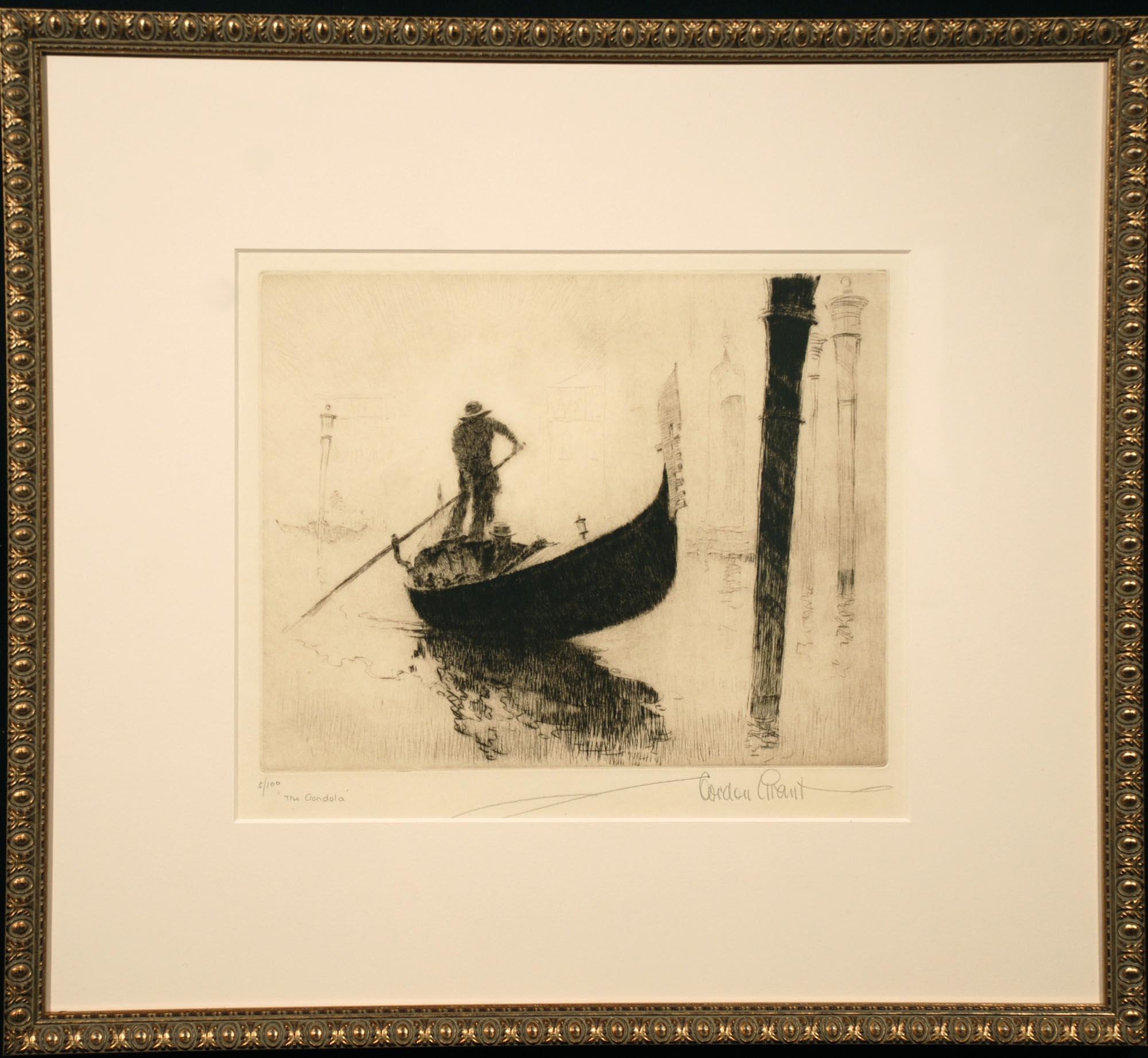 Gordon Grant The Gondolier framed