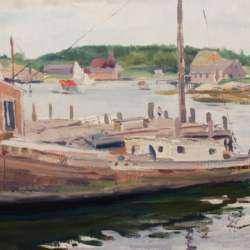 American Impressionist Harbor Scene