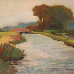 William Dennis Path Along the River