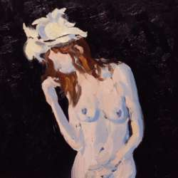 Keith Hamilton Nude with a Hat