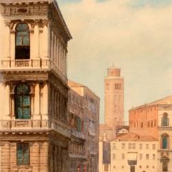 Eugenio Benvenuti Gondolier on Grand Canal Ca Rezzonico
