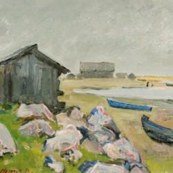 Vsevolod Petrov-Maslakov Dories on the Shore