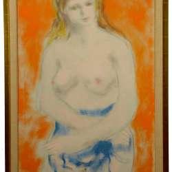 Thomas Fogarty Draped Nude framed
