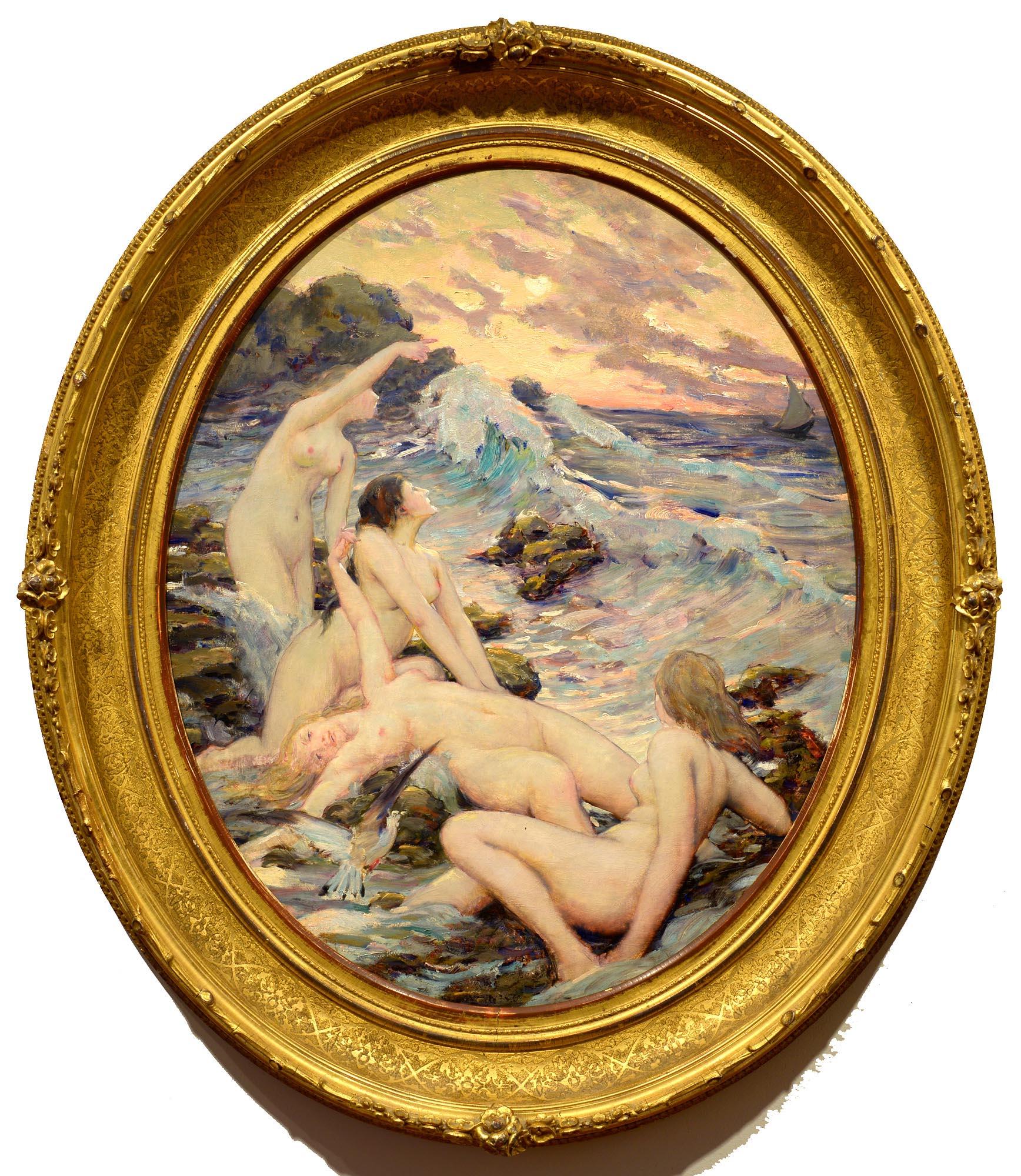 Robert Van Vorst Sewell Sirens at Gull Rock framed