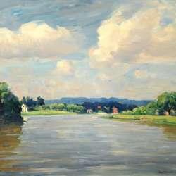 John Folinsbee Summer Along the River