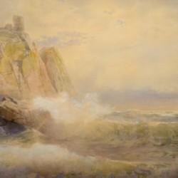 William Trost Richard Morning Seas, Wolf's Crag