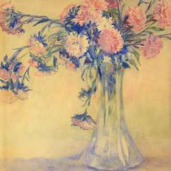 Mary Van der Veer Pink and White Carnations