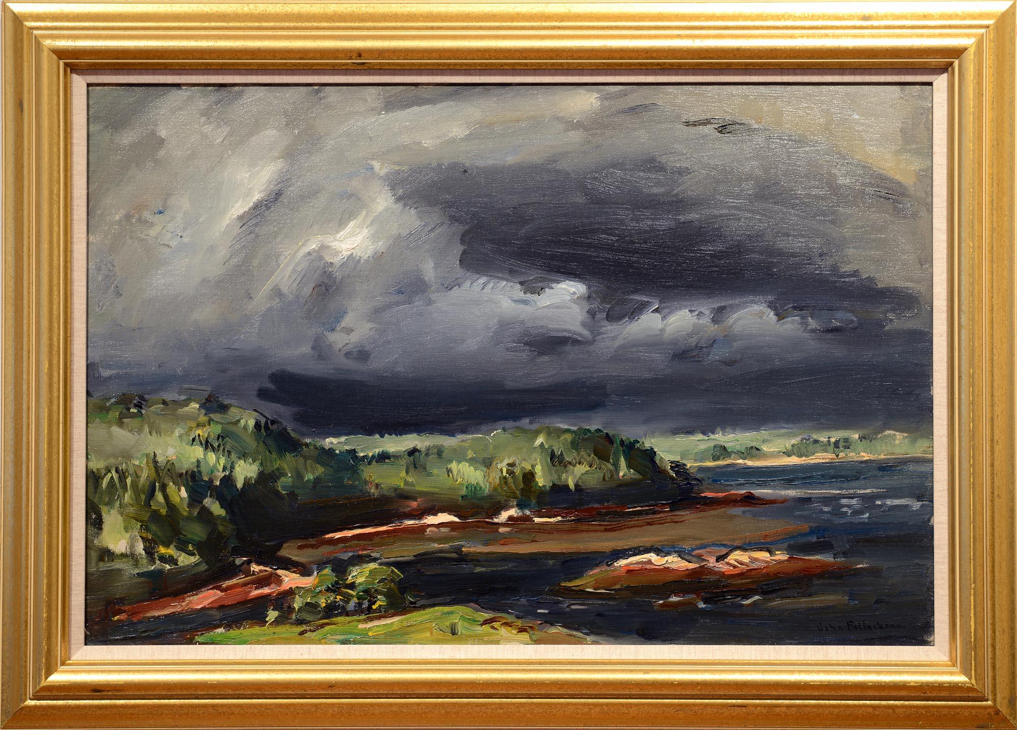 John Folinsbee Storm Over Chewonki framed