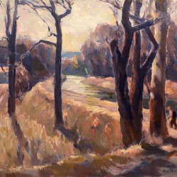 John Folinsbee Trees Along the Canal