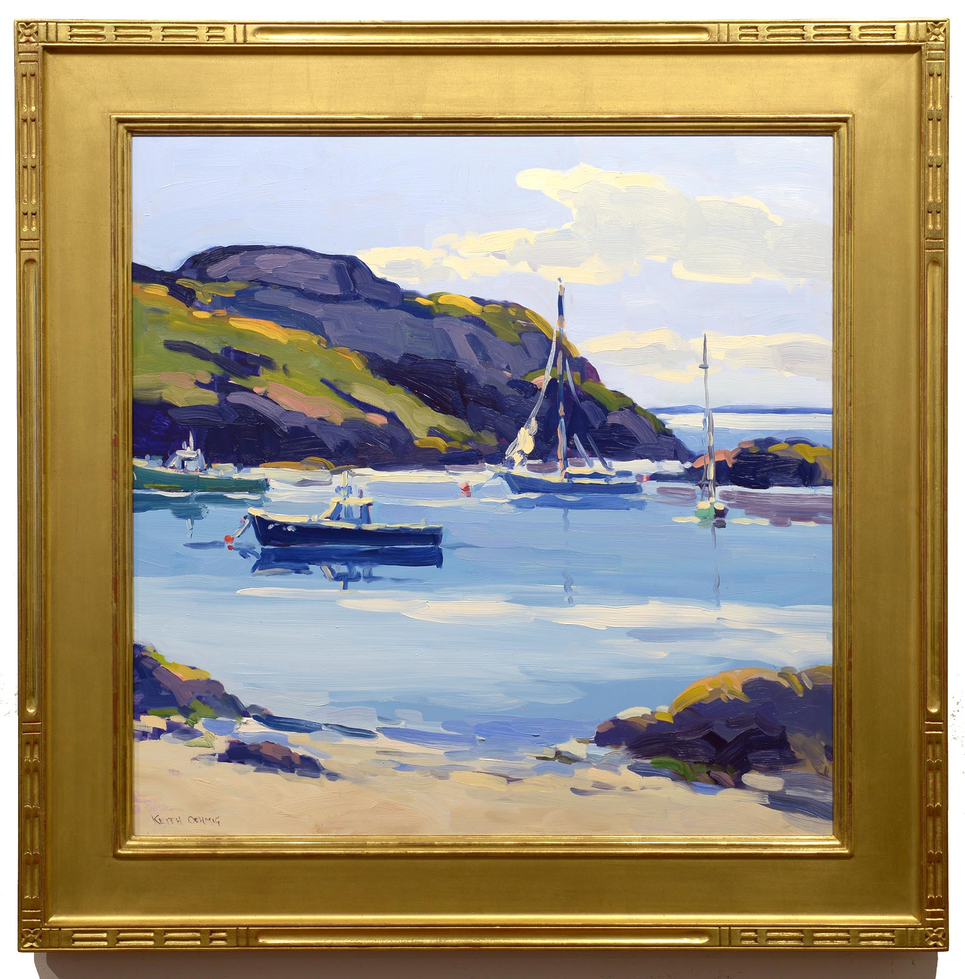 Keith Oehmig August Afternoon, Fish Beach framed
