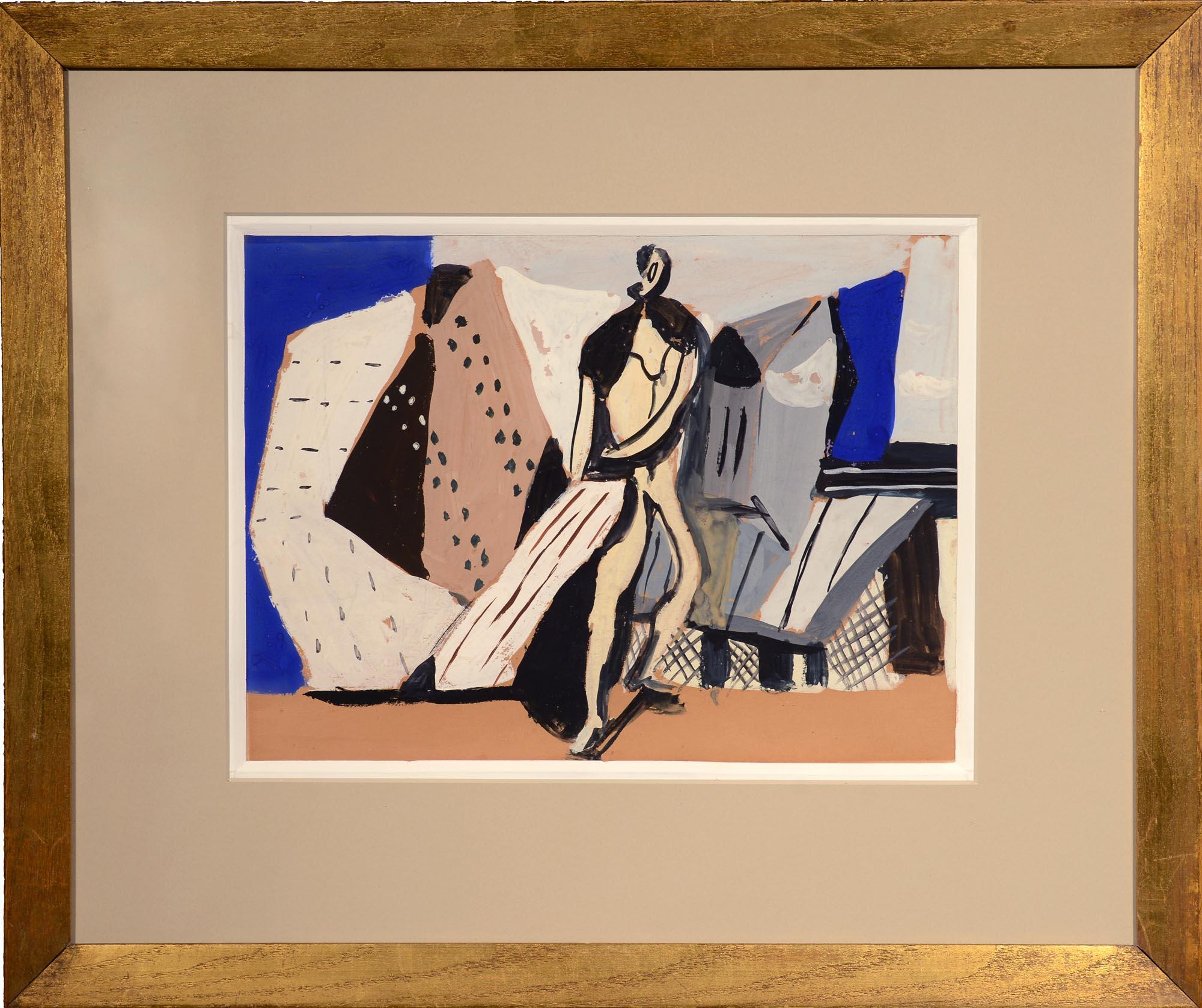 Vaclav Vytlacil Bather at the Lido framed