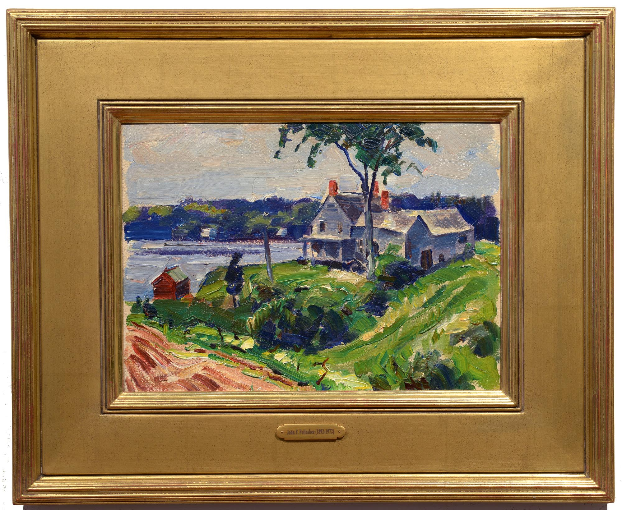 John Folinsbee Up the Kennebec framed