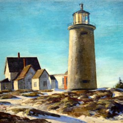 Andrew Winter Monhegan Island Lighthouse 1938