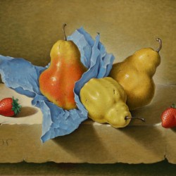 John Hulse Still Life with Pears and Strawberries