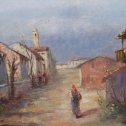 Alberto Zampieri Road Through the Village
