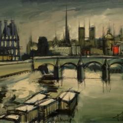 Francisco Sillue Along the Seine