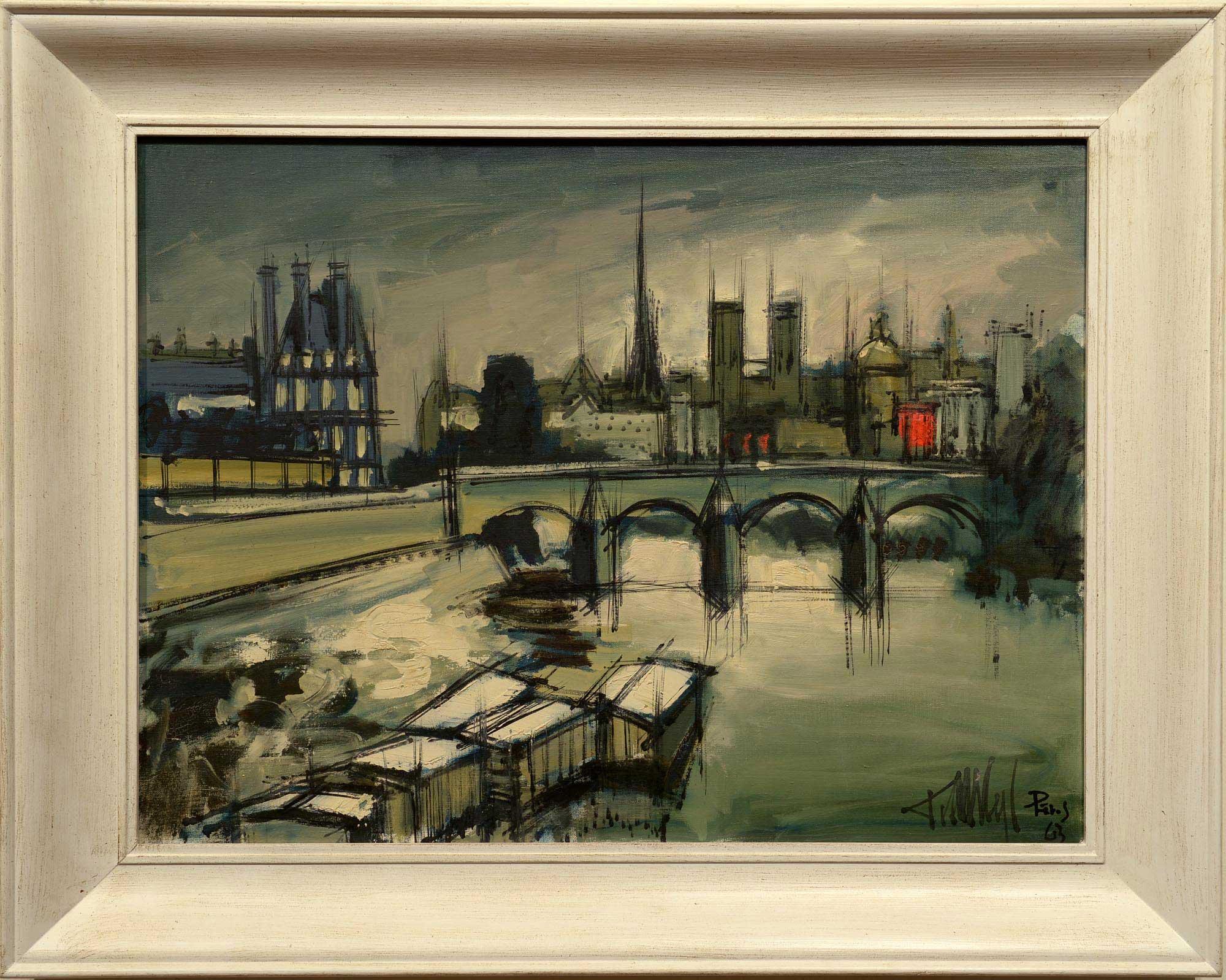 Francisco Sillue Along the Seine framed