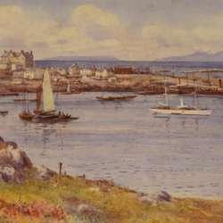 Warren Williams Steamer Sail in the Harbor