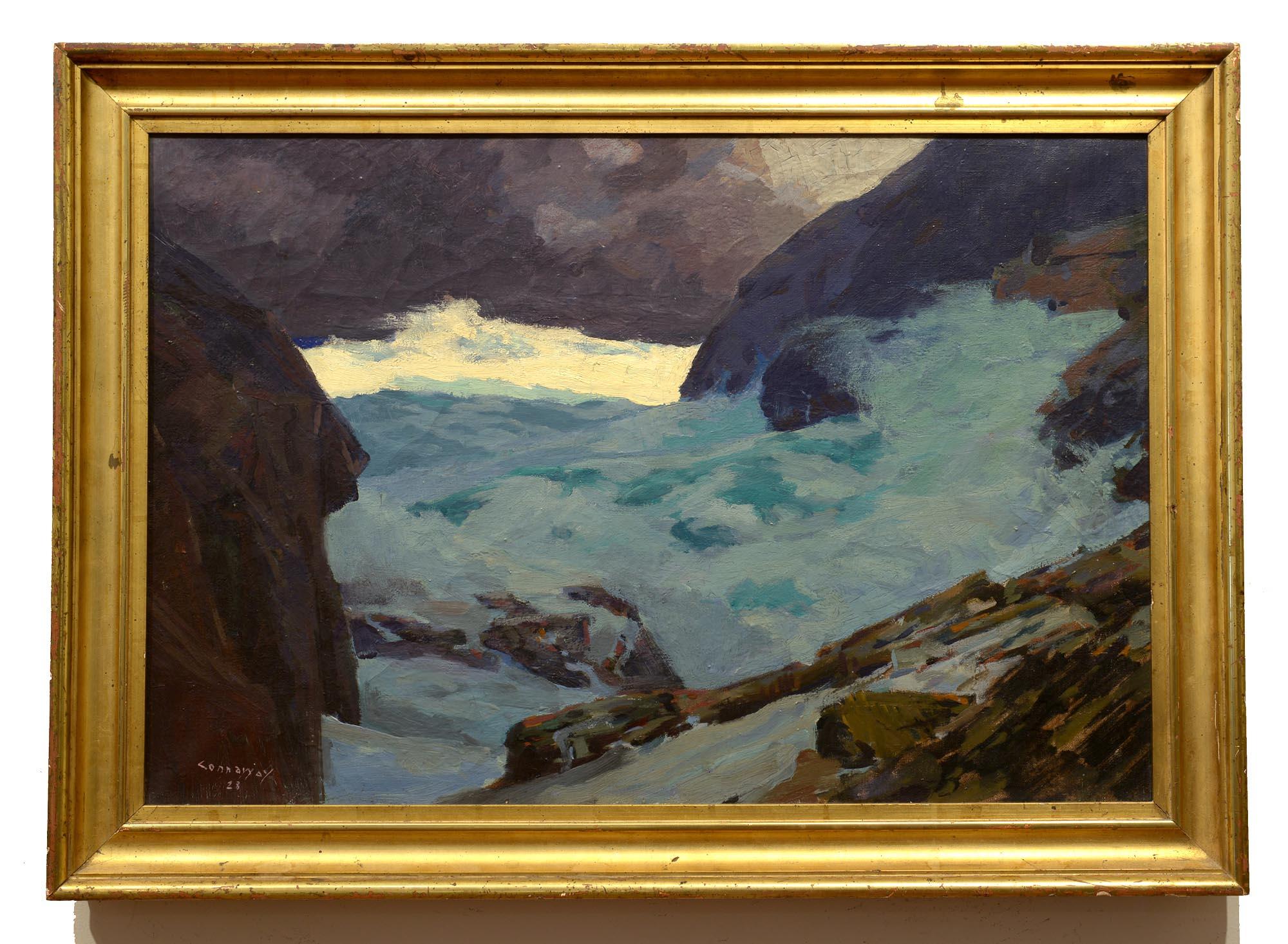 Jay Hall Connaway Beneath the Headlands, 1928 framed