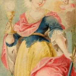Saint Barbara with Angels