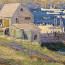 Walter Farndon Summer Day, Monhegan Wharf