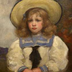 Alfred Edward Borthwick Young Girl in a Sailor Suit