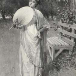 Davidson Knowles Lady with a Fan