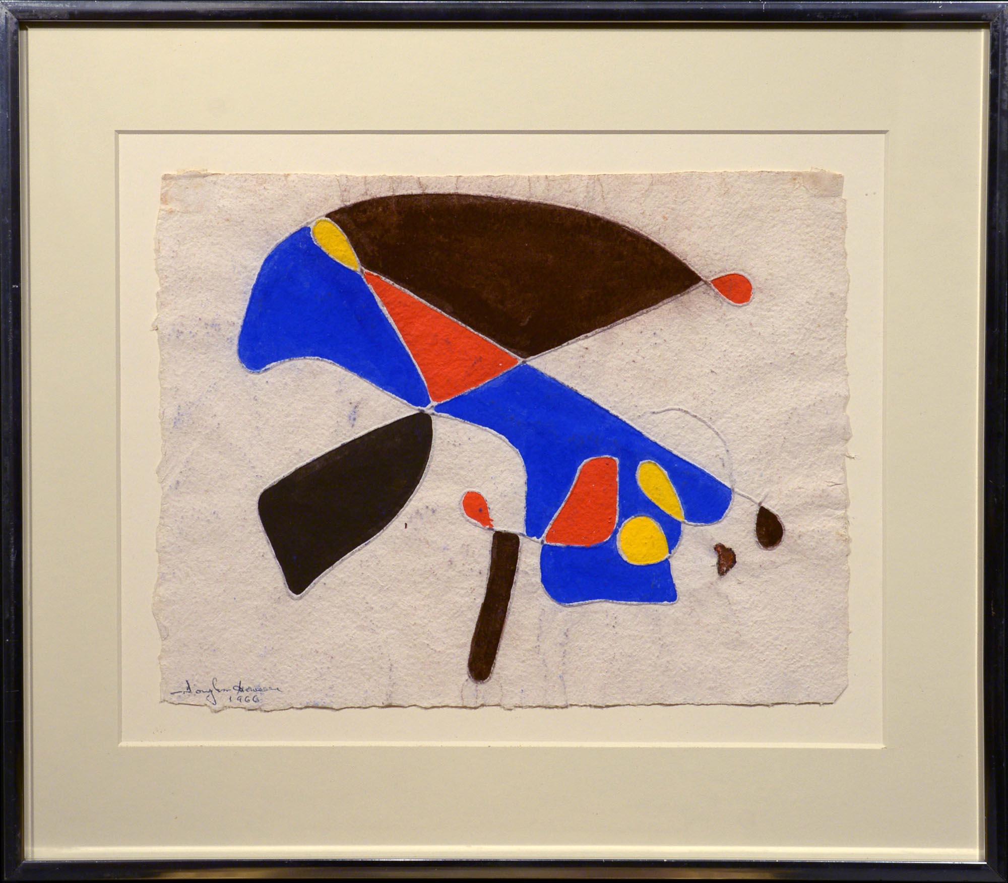 Douglass Morse Howell Abstraction, 1966 framed