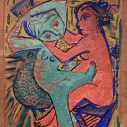 Jose de Creeft Two Women and a Bird