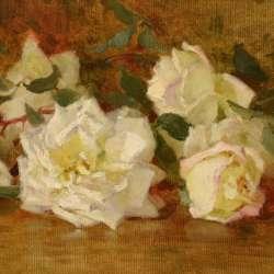 Edith White White Roses, 1901