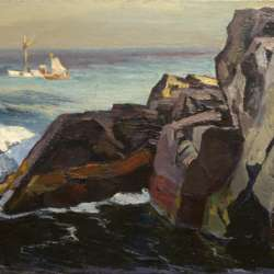 Abraham Bogdanove Fishing Boats off Squeaker Cove