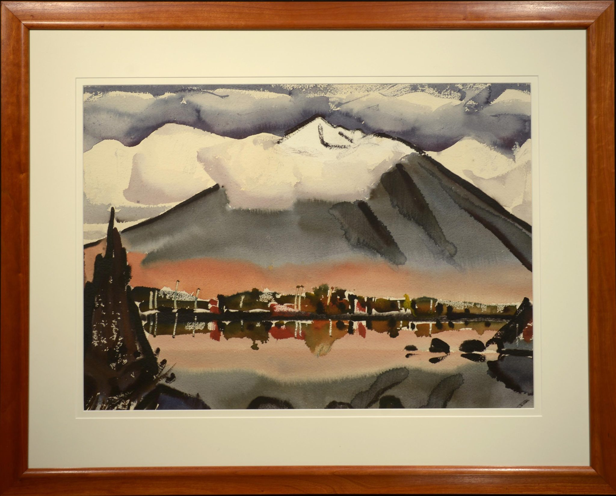 James Fitzgerald Snow-Capped Mountain framed