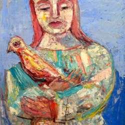 Nahum Tschacbasov Woman with Bird