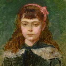 Carolus-Duran Girl with a Pink Bow