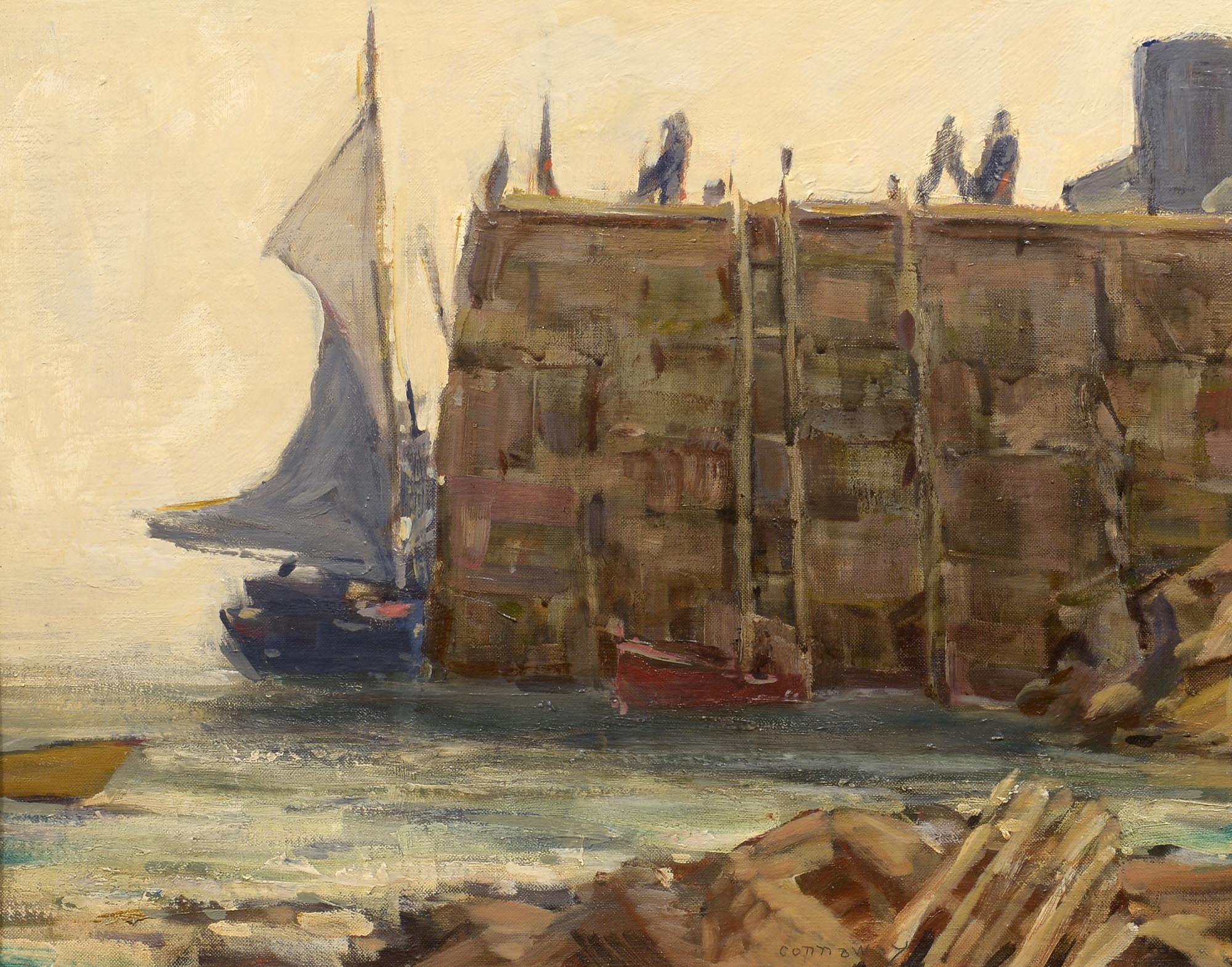 Jay Hall Connaway Monhegan Dock, Low Tide