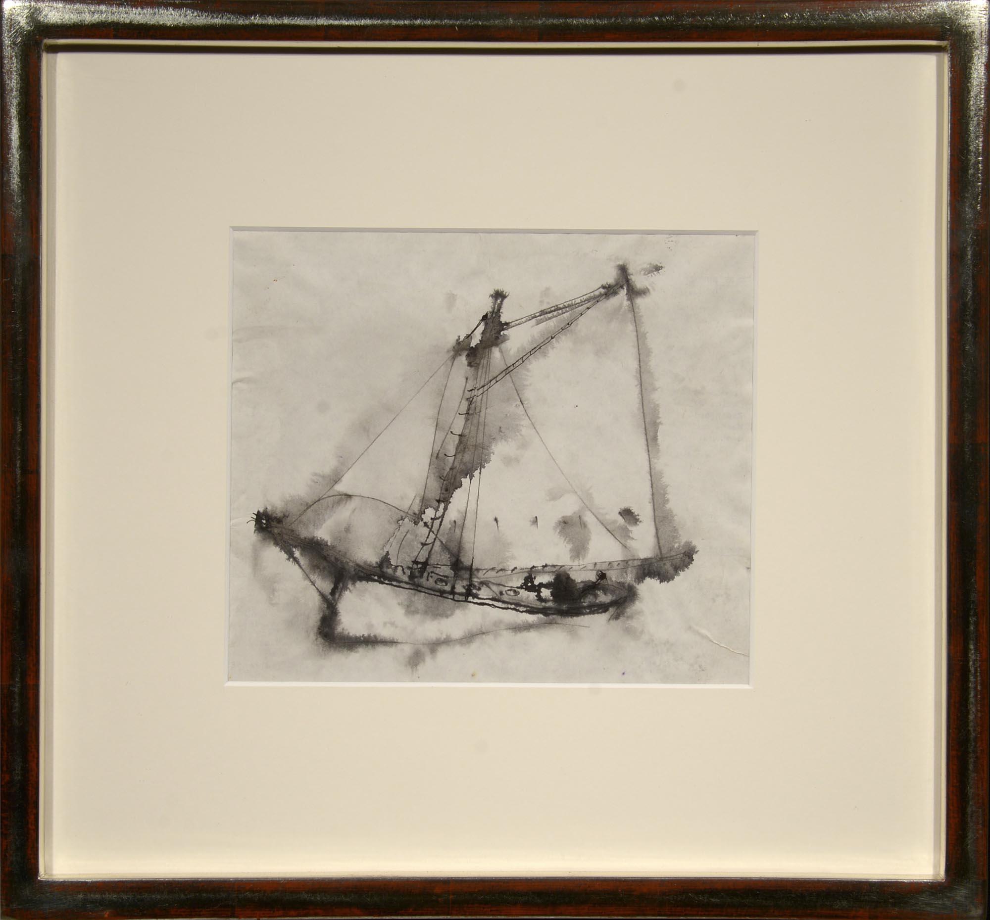 William Thon Gaff-Rigged Schooner framed