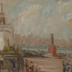 American Impressionist New York Harbor