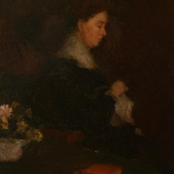 Lucie Walsh Sewing, 1905