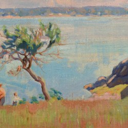 American Impressionist Summer by the Shore