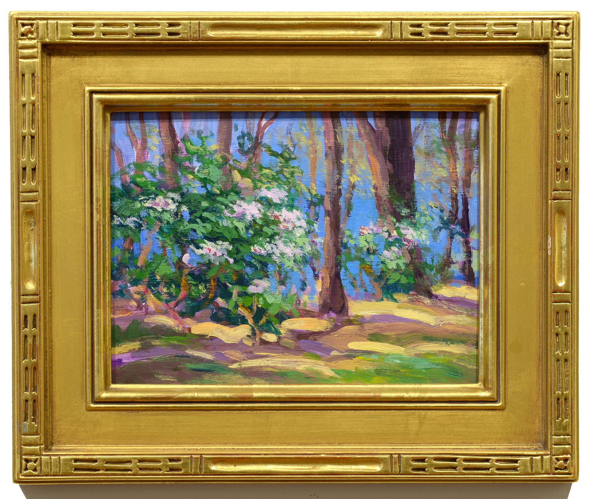 Keith Oehmig Spring Rhodies framed