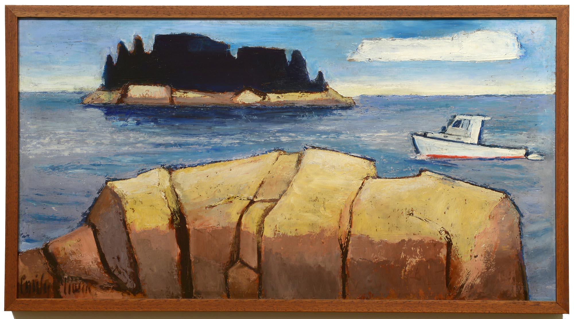 Emily Muir Fox Island framed