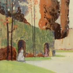 George Stimmel Figures in the Garden
