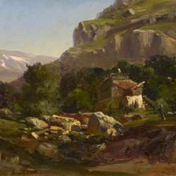 Carlos de Haes In the Spanish Countryside