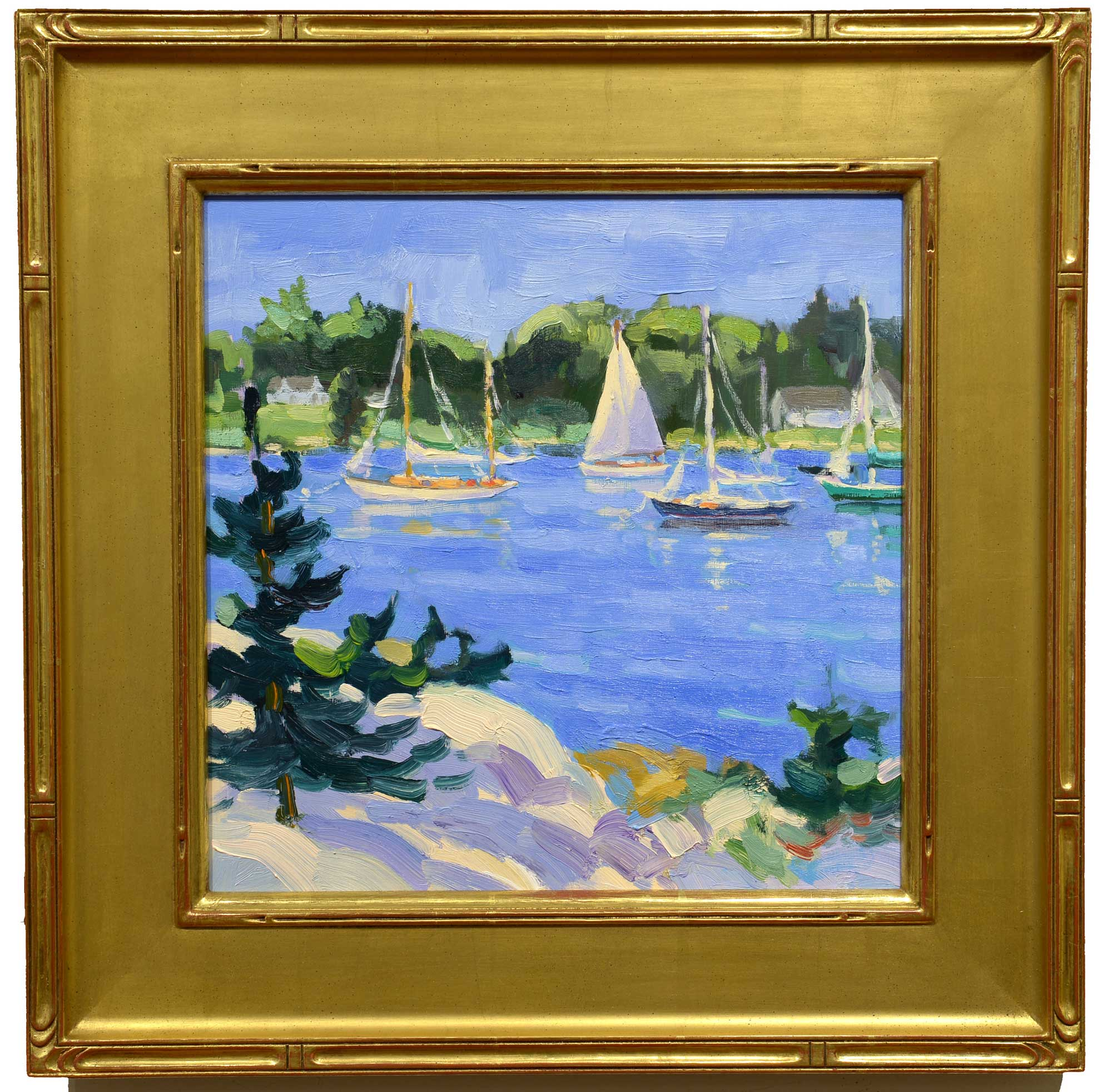 Keith Oehmig View from Chatto Island framed
