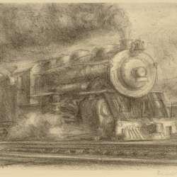 Reginald Marsh Railroad, 1932