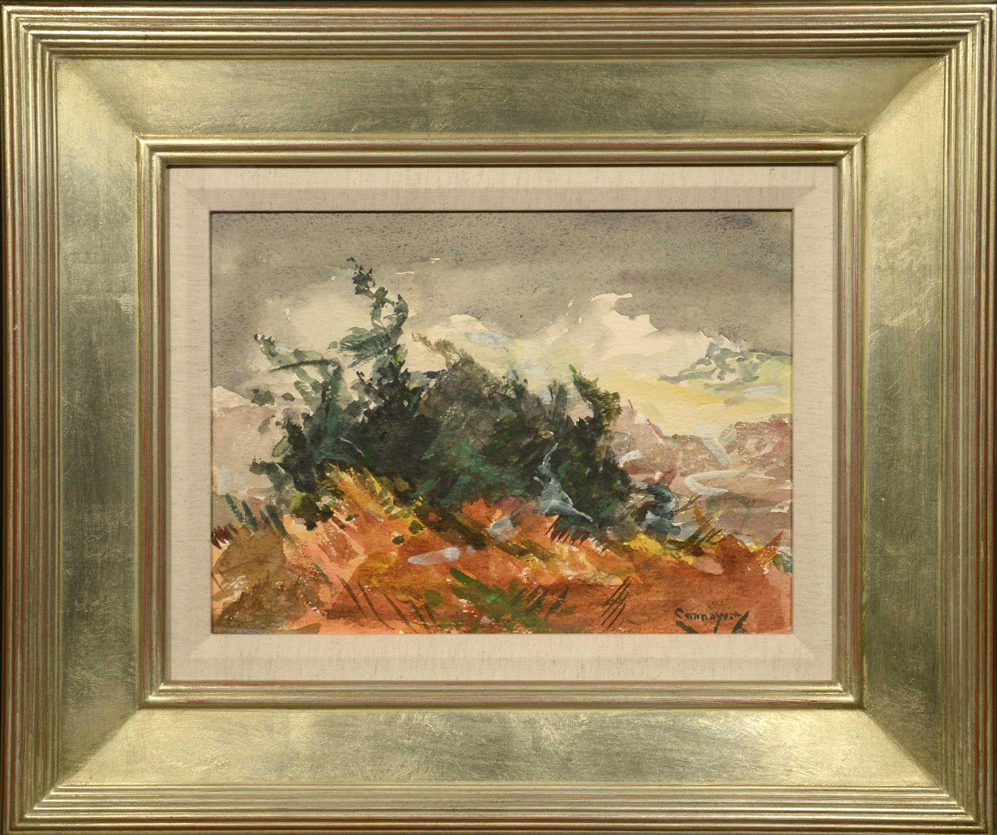Jay Hall Connaway Autumn Seas, Monhegan framed