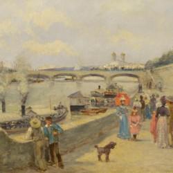 Paul Vogler Along the Seine, Paris