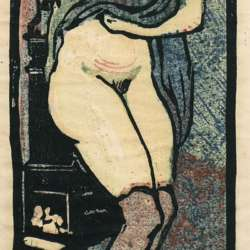 Pola Gauguin By the Wood Stove